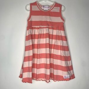 Boutique Flowersak girls size 7 dress striped pink